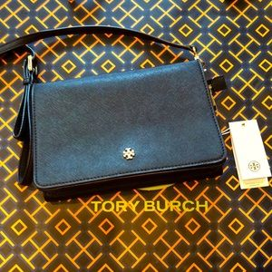 Tory Burch Emerson Combo Cross Body Black And Gold